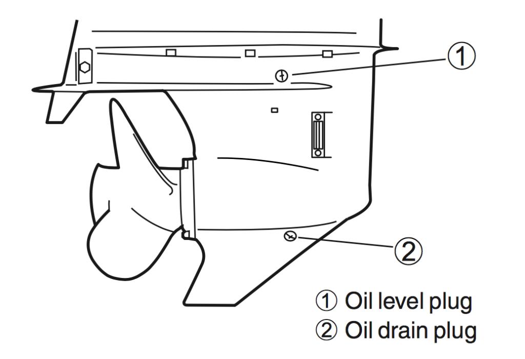 change lower unit oil suzuki outboard df 70 80 90 115 hp
