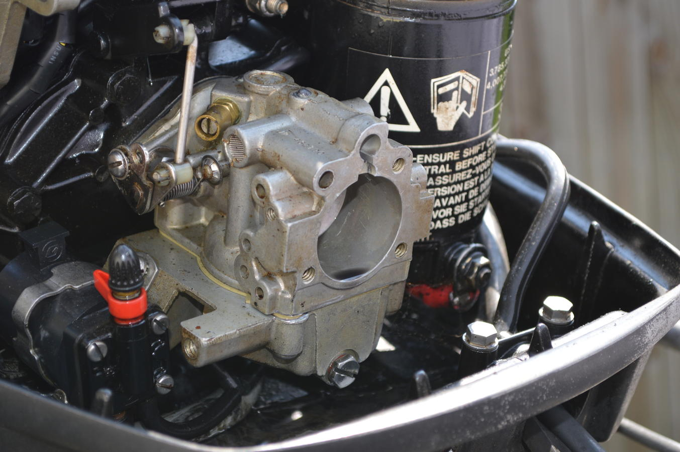 johnson carburetor cleaning  1hp to 40 hp  1989