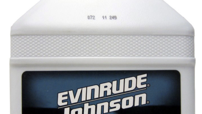 Factory HPF Pro gear lubrication one gallon bottle for Evinrude E-TEC engines.
